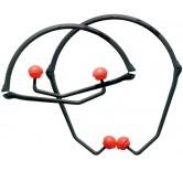 PerCap øreplugger montert på bøyle